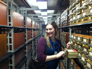 Elsa in the card catalog
