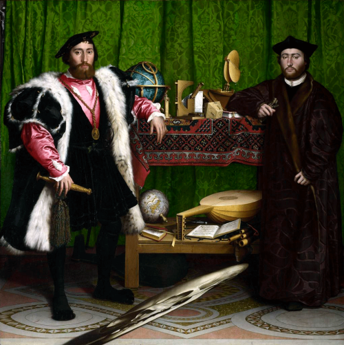 Hans Holbein the Younger | Jean de Dinteville and Georges de Selve ('The Ambassadors') | 1533 | The National Gallery, London | Photograph ©The National Gallery, London